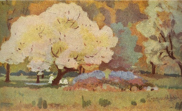 Image -- Ivan Izhakevych: Trees in Bloom (1905-6).