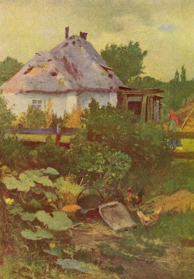 Image - Ivan Izhakevych: A Villager's Yard (1895).