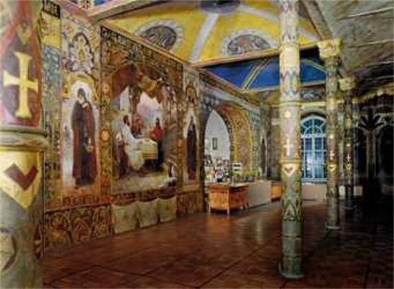 Image - Ivan Izhakevych's frescoes in the Refectory Church of the Kyivan Cave Monastery.