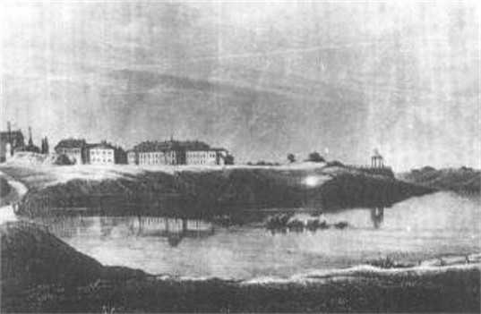 Image -- 18th-century lithograph with a view of Iziaslav,