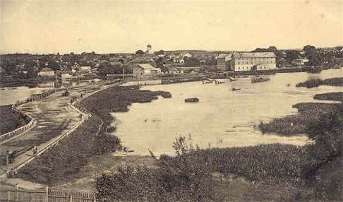 Image - Panorama of Iziaslav (Zaslav) in 1913.