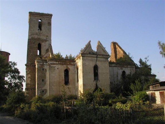 Image -- Ruins of St. John the Baptist Roman Catholic Church in Iziaslav.