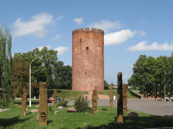Image - Kamianets tower in the Berestia land, built by Prince Volodymyr Vasylkovych.