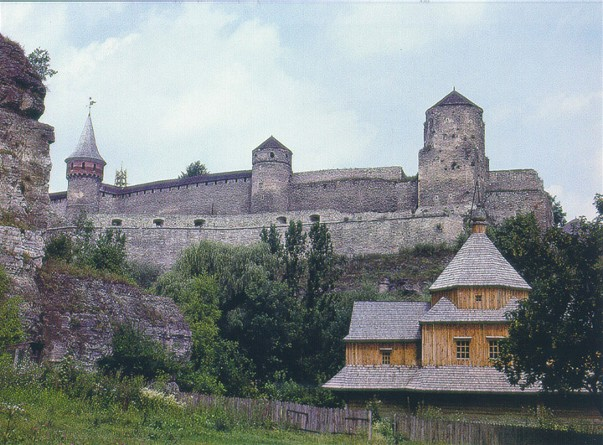 Image -- View of the Kamianets-Podilskyi fortress.