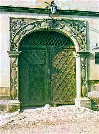 Image -- Portal of an Armenian trading house in Kamianets-Podilskyi.