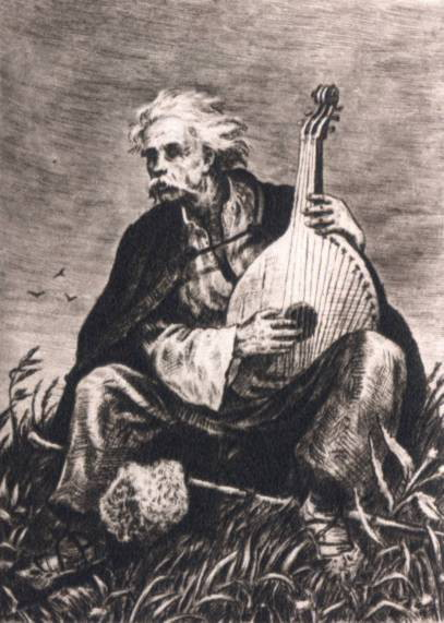 Image - Vasyl Kasiian: Illustration to the poem Perebendia by Taras Shevchenko.