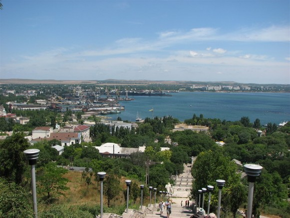 Image - Kerch, the Crimea, Ukraine. Panorama of the port.
