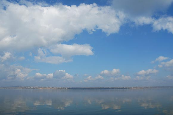 Image - A view of the Khadzhybei Estuary.