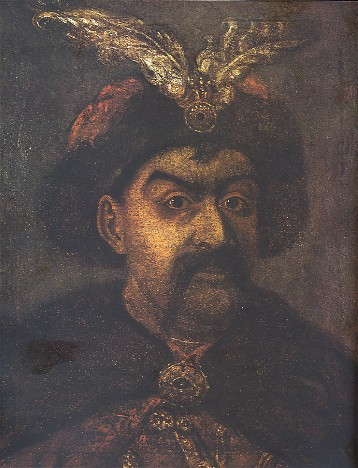 Image -- Portrait of Hetman Bohdan Khmelnytsky (17th century).