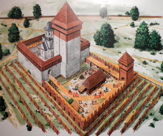 Image - A reconstruction of Danylo Romanovych's castle in Kholm (Chelm).