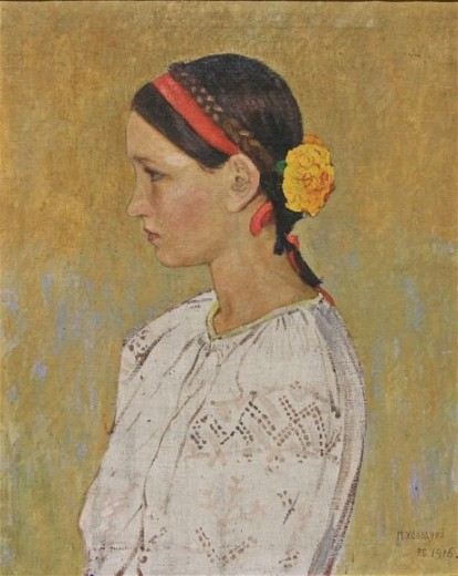 Image - Petro Kholodny: Portrait of a Girl.