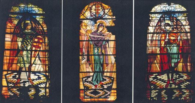 Image - Petro Kholodny: Stained glass windows in Dormition Church in Lviv.