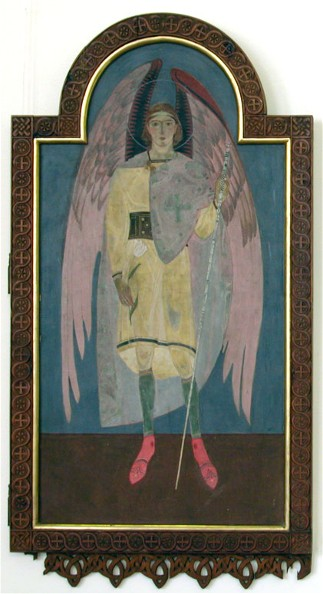Image - Petro Kholodny: Icon of Archangel Gabriel from the iconostasis in the Holy Spirit Chapel of the Greek Catholic Theological Seminary in Lviv (1920s).