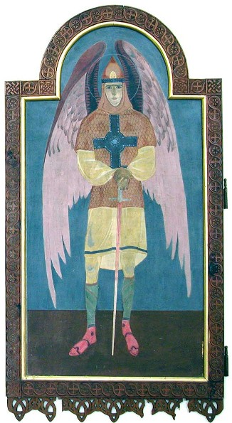 Image - Petro Kholodny: Icon of Archangel Michael from the iconostasis in the Holy Spirit Chapel of the Greek Catholic Theological Seminary in Lviv (1920s).
