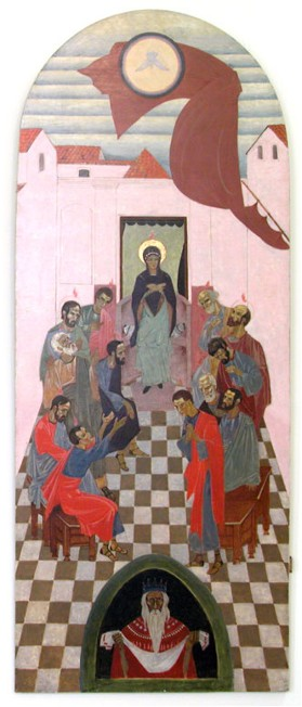 Image - Petro Kholodny: Icon The Descent of the Holy Spirit from the iconostasis in the Holy Spirit Chapel of the Greek Catholic Theological Seminary in Lviv (1920s).