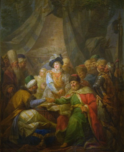 Image -- The Khotyn Peace Treaty of 1621 (painting by Marcello Bacciarelli).