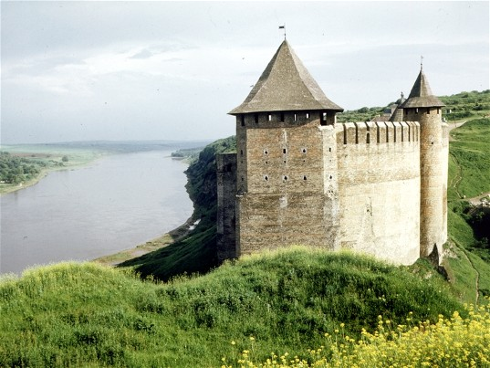 Image - Khotyn castle: view from the south.