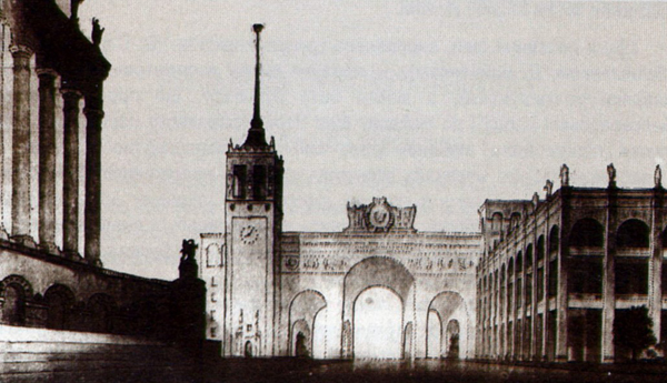 Image - A Khreshchatyk reconstruction project  by architechts A. Vlasov and V. Yelizarov (1945).