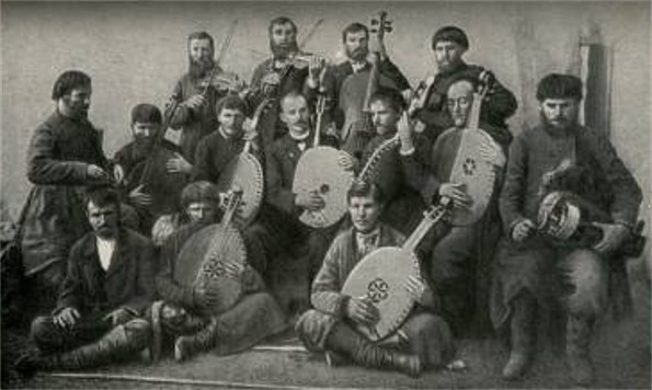 Image - Kobzars and lirnyks at a convention in Kharkiv (1902).