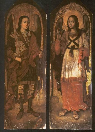 Image - Yov Kondzelevych: Icon of Archangels Michael and Gabriel from the Maniava Hermitage iconostasis (1698-1705).