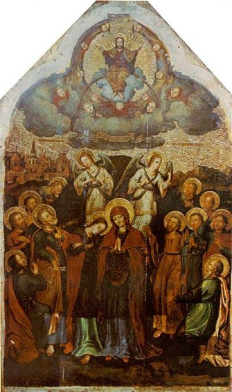 Image - Yov Kondzelevych: Icon The Assumption from the Maniava Hermitage iconostasis (1698-1705).