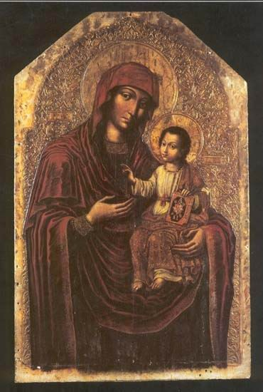 Image - Yov Kondzelevych: Icon of the Mother of God from the Maniava Hermitage iconostasis (1698-1705).