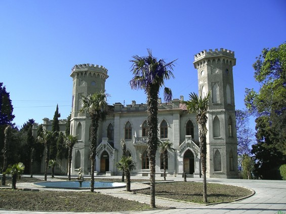 Image - The Usupov's palace in Koreiz in the Crimea.