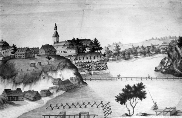 Image - A view of Korets (old engraving).