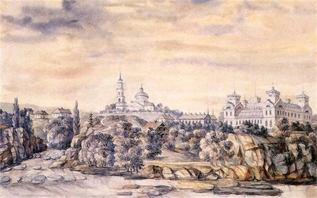 Image - View of Korsun on an old lithograph.