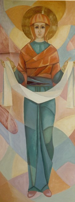 Image - Roman Kowal: 1968 fresco in the Church of the Mother of God, Mountain Road, Manitoba.