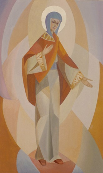 Image - Roman Kowal: 1968 fresco in the Church of the Assumption of the Blessed Virgin Mary, Russell, Manitoba.