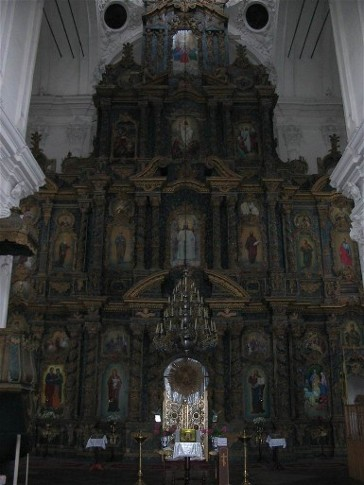 Image - Kozelets: the Cathedral of the Nativity of the Mother of God, bronze iconostasis.