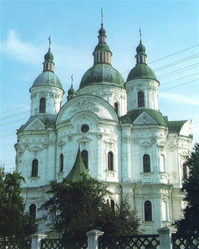 Image -- The Cathedral of the Nativity of the Mother of God (1752-63) in Kozelets.
