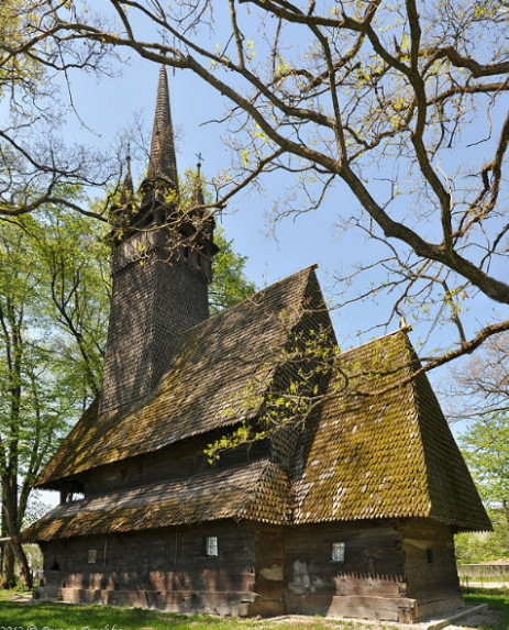 Image - The gothic wooden Church of Saint Parasceve (1643) in the village of Krainykovo, Transcarpathia.