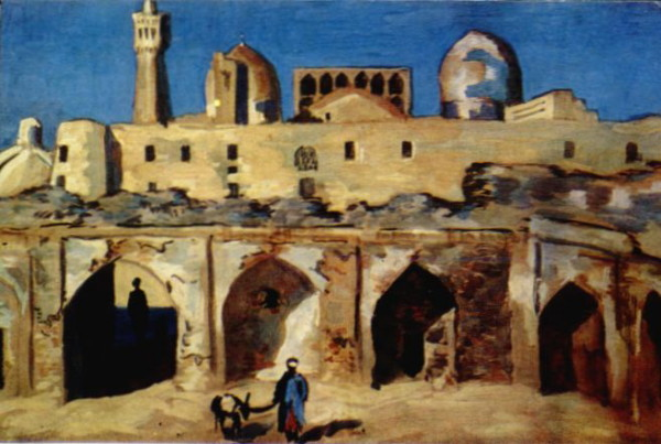 Image - Lev Kramarenkо: Evening in Bukhara (1935).