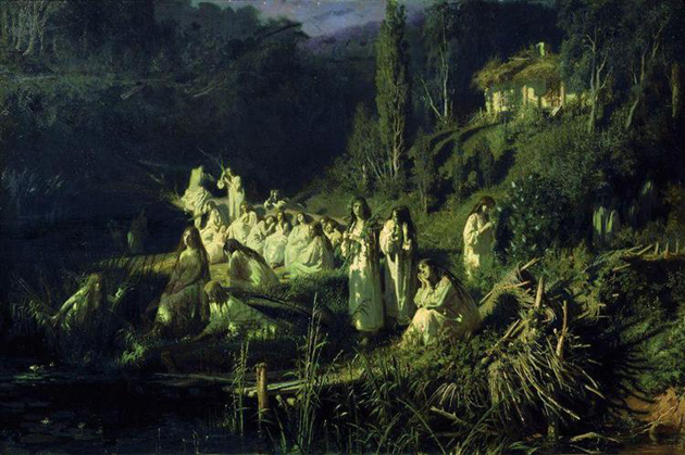 Image - Ivan Kramskoi: Rusalkas. May Night (1871).