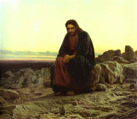 Image - Ivan Kramskoi: Christ in the Desert (1872).