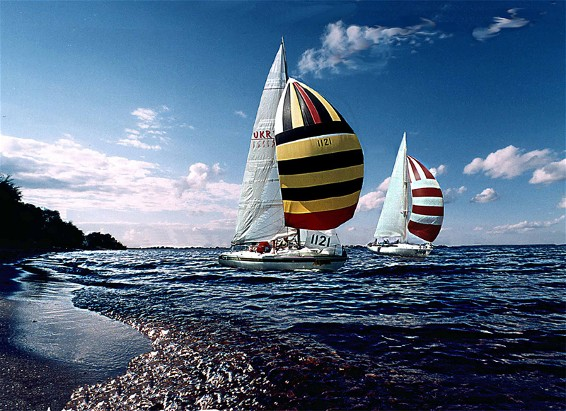 Image - Sailing regata on the Kremenchuk Reservoir (Dnieper River) near Cherkasy.