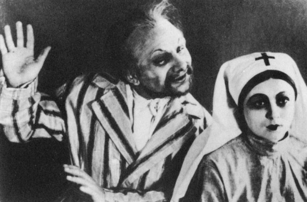 Image -- M. Krushelnystky and O. Datsenko in Les Kurbas production of M. Kulishs Peoples Malakhii in Berezil (1928).