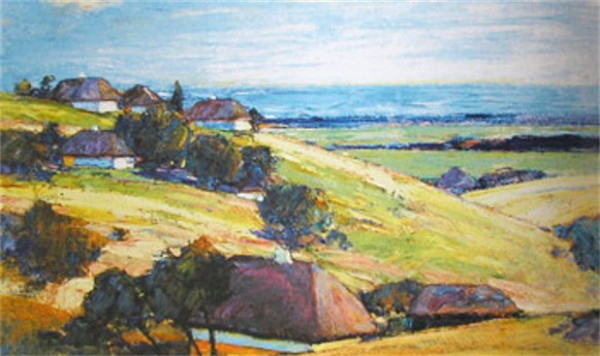 Image - Vasyl H. Krychevsky: Early Autumn in the Poltava Region (1943).