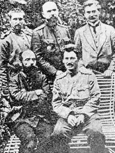 Image - Vasyl H. Krychevsky (top right) among friends.