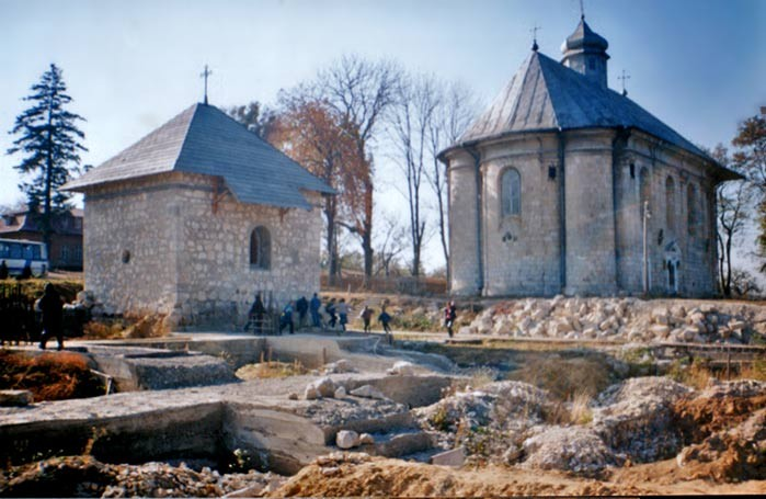 Image - The remains of the Dormition Cathedral (1157) in Krylos (princely Halych) with the Dormition Church (16th century).