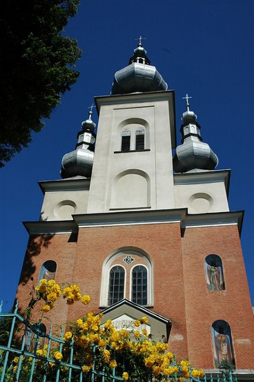 Image - The former Ukrainian Catholic Church of SS Peter and Paul in Krynytsia (Krynica-Zdroj). Today a Roman Catholic Church.