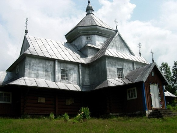 Image - A church in Kryvorivnia in the Hutsul region.