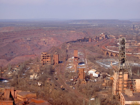 Image -- Kryvyi Rih: iron ore excavation.