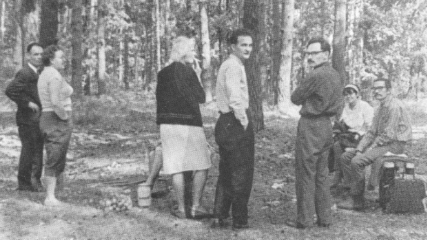 Image - A Club of Creative Youth outing near Kyiv in 1967: l-r Danylo Shumuk, Leonida Svitlychna, Alla Horska, Mr. Roman, Ivan Svitlychny, Halyna Sevruk, and Ivan Rusyn.