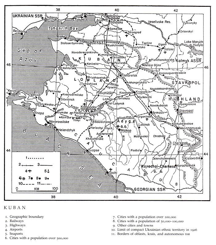 Image - The map of the Kuban region.