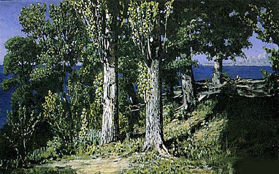 Image - Arkhyp Kuindzhi: Cypresses on the Sea Shore. Crimea (1887).