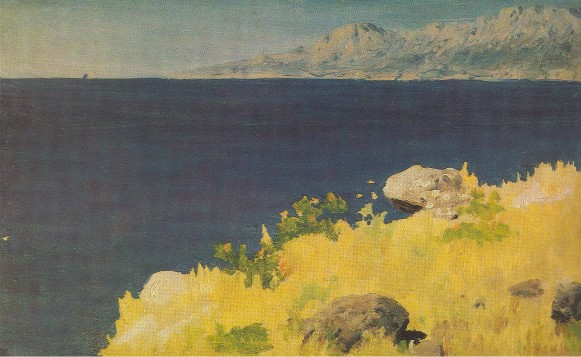 Image -- Arkhyp Kuindzhi: Sea Shore in the Crimea (1885-90).