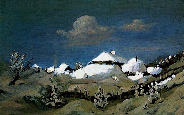 Image - Arkhyp Kuindzhi: Winter Light Reflecting in the Roofs of Houses (1885-90.